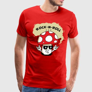 Rock-n-Roll Mushroom - Men's Premium T-Shirt