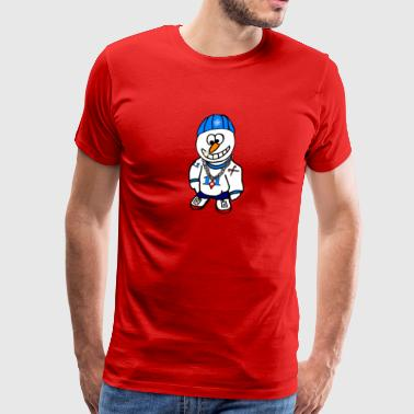 Hip Hop Rapper Snowman - Men's Premium T-Shirt