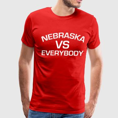 NEBRASKA VS EVERYBODY - Men's Premium T-Shirt