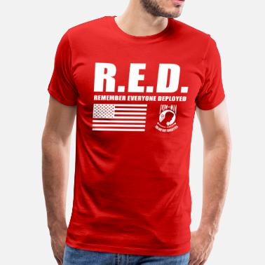 Veterans American Flag Red Friday Wear Red On Friday - Men's Premium T-Shirt