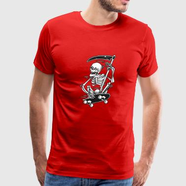 skateboarding skeleton - Men's Premium T-Shirt