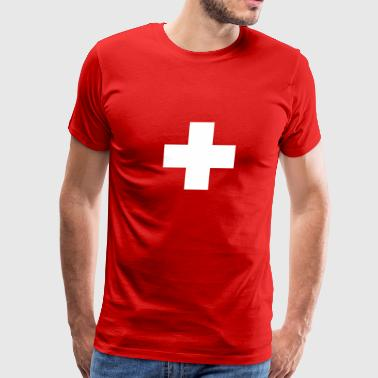 cross swiss red - Men's Premium T-Shirt