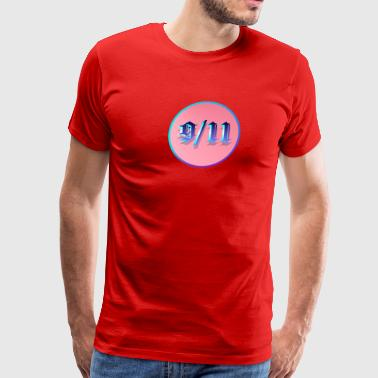 9-11 Blue Circle - Men's Premium T-Shirt