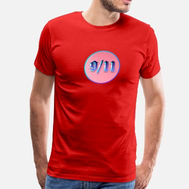 9-11 Attacks 9-11 Blue Circle - Men's Premium T-Shirt