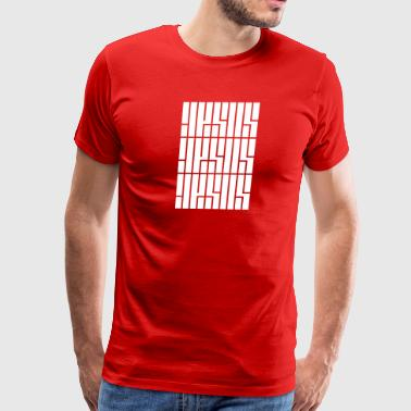 Hillsong JESUS Repeated - Men's Premium T-Shirt