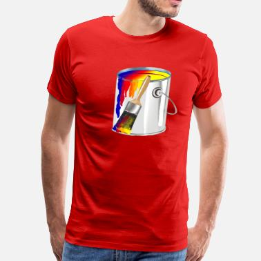 Paint Brush Paint Bucket - Men's Premium T-Shirt