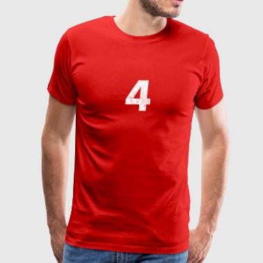 4 distressed,4, Four, Number Four, Number 4 - Men's Premium T-Shirt