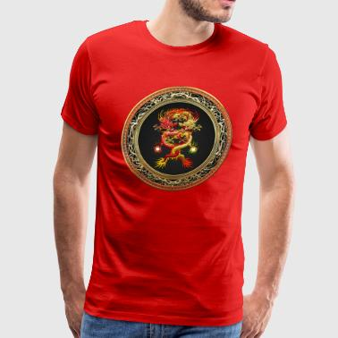 Red and Yellow Dragons - Men's Premium T-Shirt