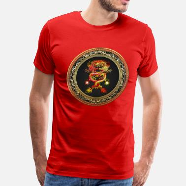 Shambhala Red and Yellow Dragons - Men's Premium T-Shirt