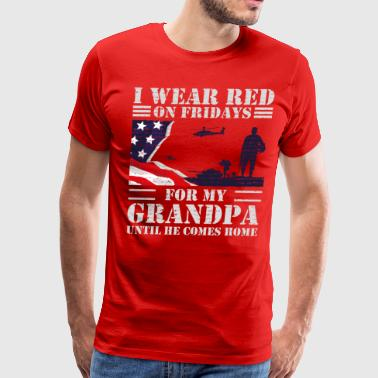 American Grandpa Red Friday Shirts For Veteran Military Grandpa - Men's Premium T-Shirt