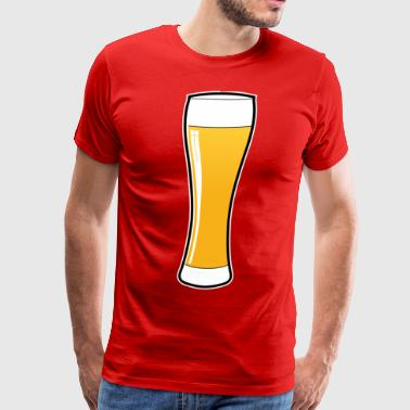 Beer glass - Beer Logo - Weissbier - Beer Mug - Men's Premium T-Shirt