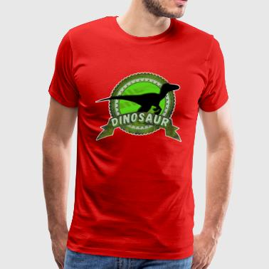 Dinosaur Raptor green - Men's Premium T-Shirt