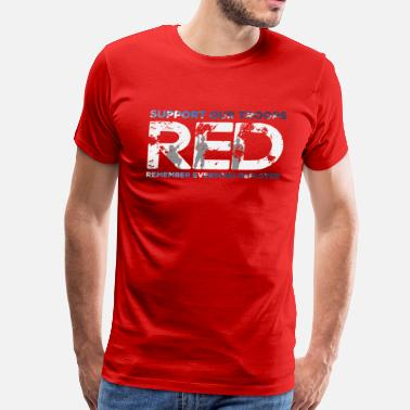 Military Support RED - Support Our Troops - Men's Premium T-Shirt
