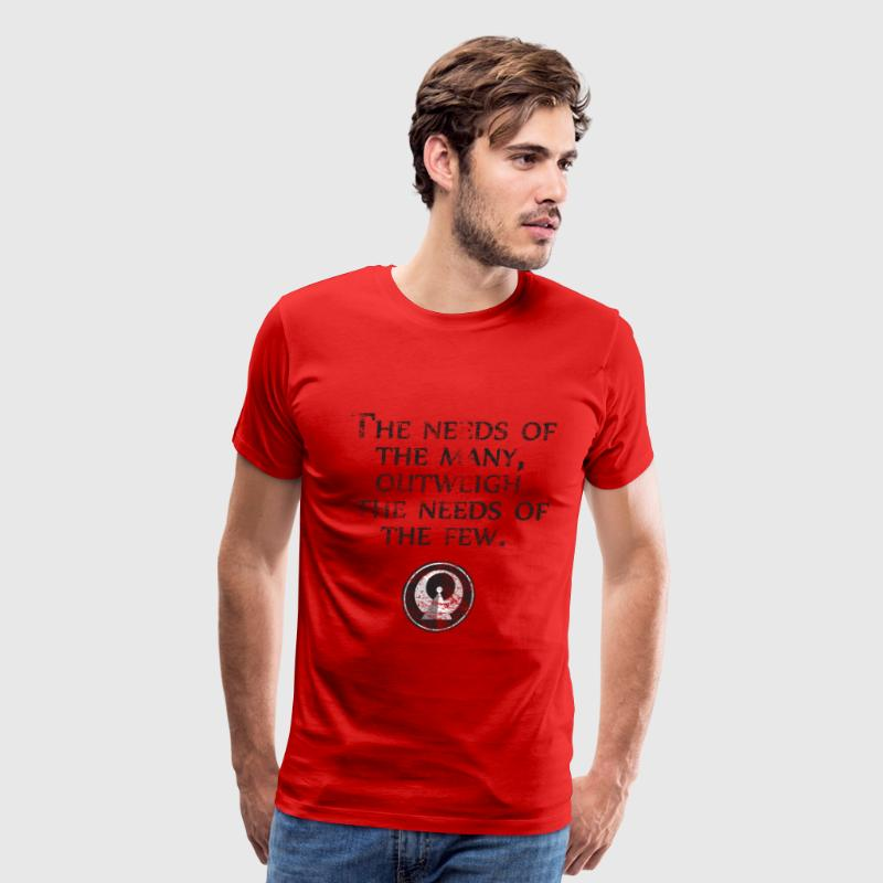 The Needs of the Many Outweigh the Needs of the Few - Star Trek| Robot Plunger Back - Men's Premium T-Shirt