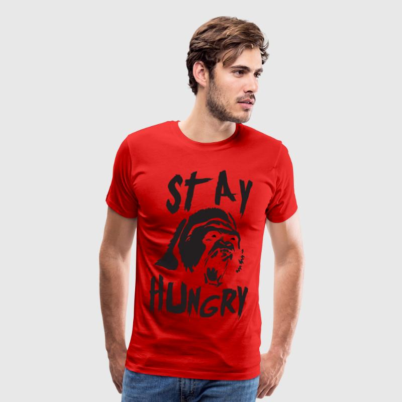 Stay Hungry (Gorilla) - Gym Motivation - Men's Premium T-Shirt