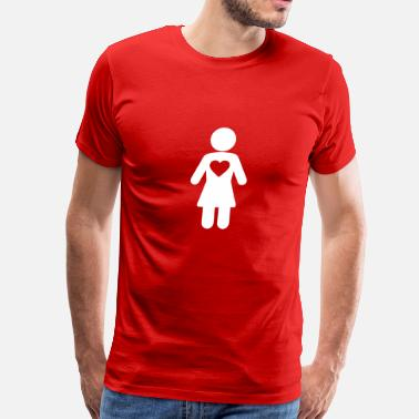 Woman Love icon woman happy love - Men's Premium T-Shirt