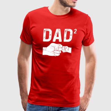 Dad Of Two Daughters Baby Announcement - Men's Premium T-Shirt