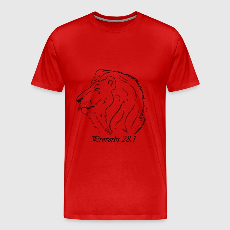 Proverbs 28:1 - Men's Premium T-Shirt