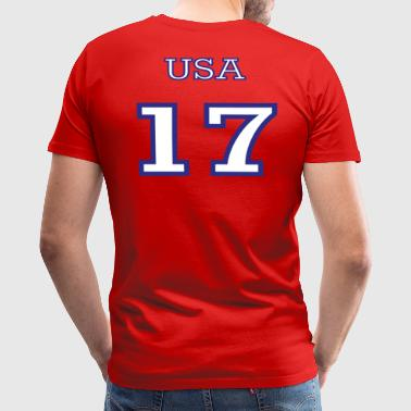 Team 17 Qanon Number 17 - Team USA - Men's Premium T-Shirt