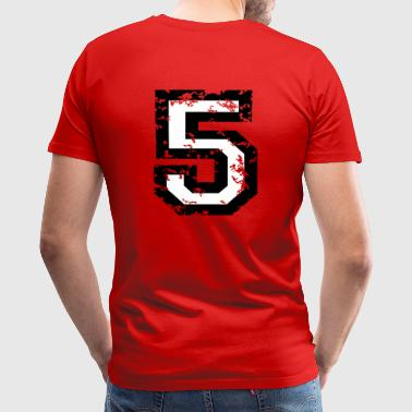 The Number Five - No. 5 (two-color) white - Men's Premium T-Shirt