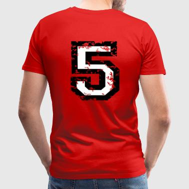 5th Grade The Number Five - No. 5 (two-color) white - Men's Premium T-Shirt