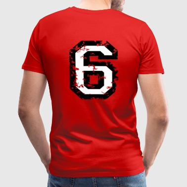 The Number Six - No. 6 (two-color) white - Men's Premium T-Shirt