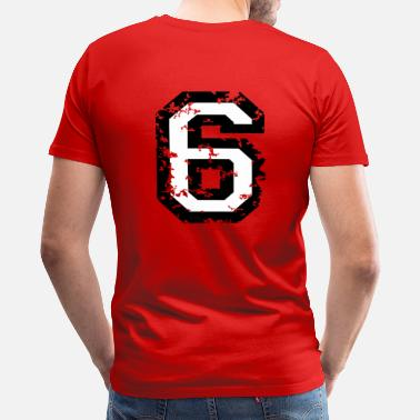 Six Two The Number Six - No. 6 (two-color) white - Men's Premium T-Shirt