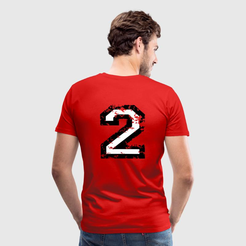 The Number Two - No. 2 (two-color) white - Men's Premium T-Shirt