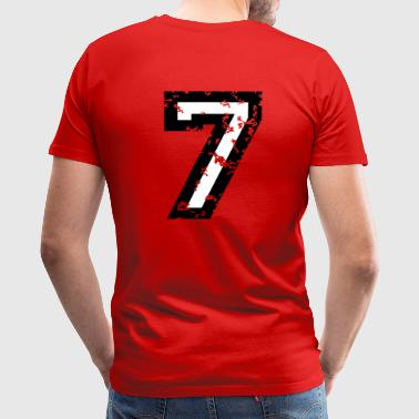The Number Seven - No. 7 (two-color) white - Men's Premium T-Shirt