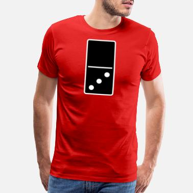 Number 3 DOMINO STONE 0:3 - VARIABLE COLOR - VECTOR DESIGN! - Men's Premium T-Shirt