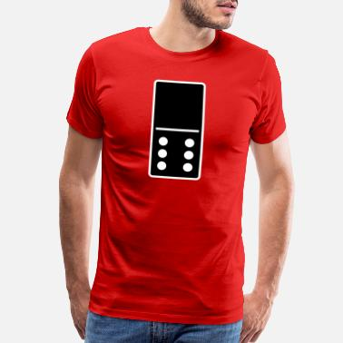 Mexican DOMINO STONE 0:6 - VARIABLE COLOR - VECTOR DESIGN! - Men's Premium T-Shirt
