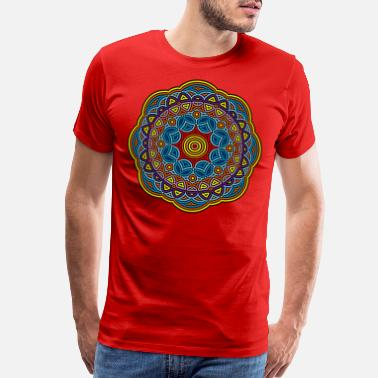 Brahma Mandala Meditation Art - Men's Premium T-Shirt