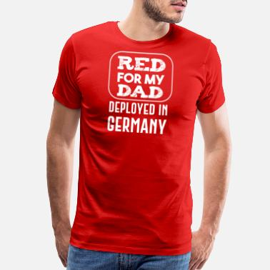 Us Coast Guard red for my dad deployed in germany - Men's Premium T-Shirt