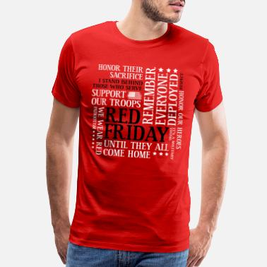 Red Friday Support Our Troops Red Friday Support Our Troops Military Word Cloud - Men's Premium T-Shirt