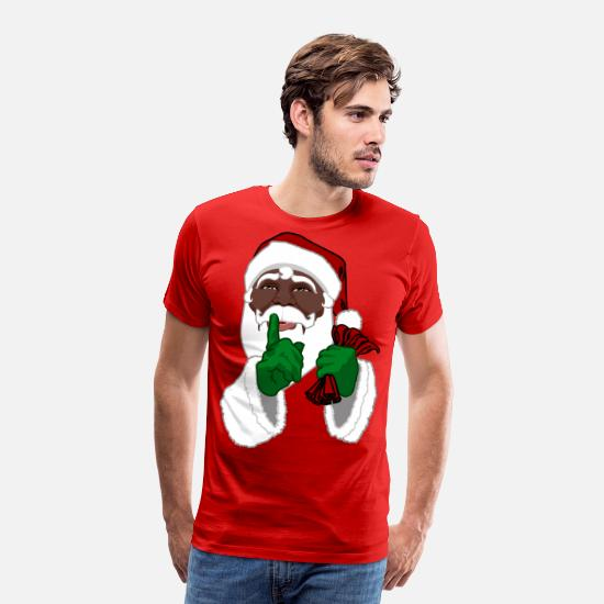 Infant T-Shirts - African American Santa Black Santa Clause - Men's Premium T-Shirt red