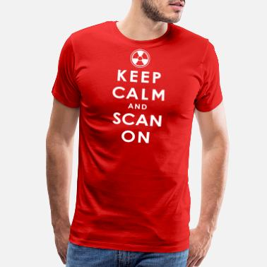 Scan Keep Calm and Scan On - Men's Premium T-Shirt