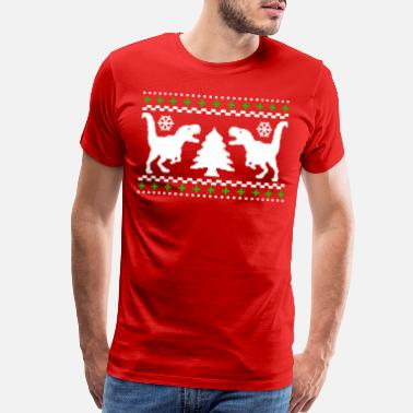 Christmas Ugly T-REX Christmas Sweater - Men's Premium T-Shirt