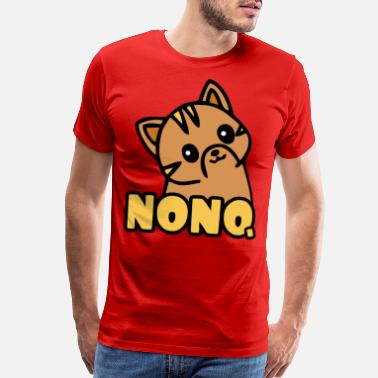 Disobey Kitty cat says nono and smiles - Men's Premium T-Shirt