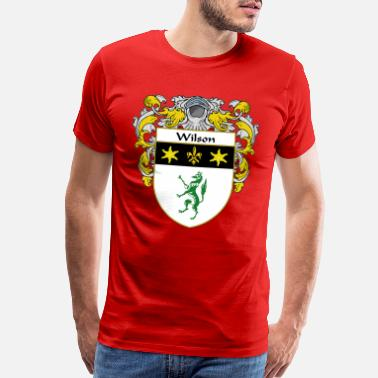 Family Crest wilson_coat_of_arms_mantled - Men's Premium T-Shirt