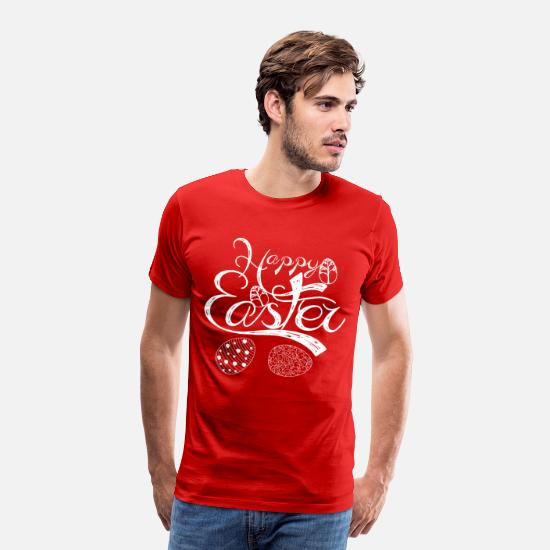 Easter T-Shirts - happy easter 274 - Men's Premium T-Shirt red