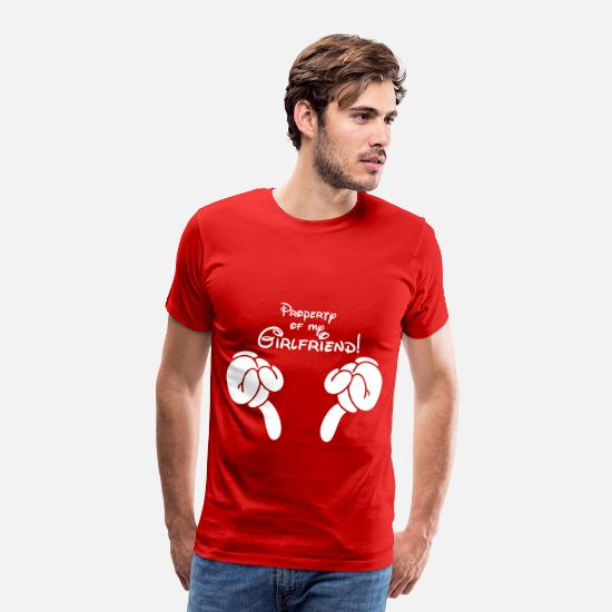 Property T-Shirts - property of my girlfriend - Men's Premium T-Shirt red