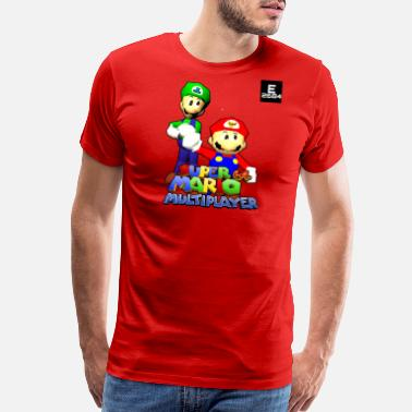 Multiplayer Super Mario 64 Multiplayer | Epicness & Arcani - Men's Premium T-Shirt