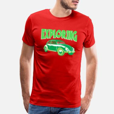Suv Exploring the world with your car - Men's Premium T-Shirt