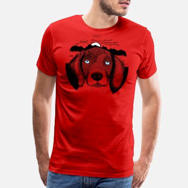 Animals Dog Portrait Zentangle - Men's Premium T-Shirt