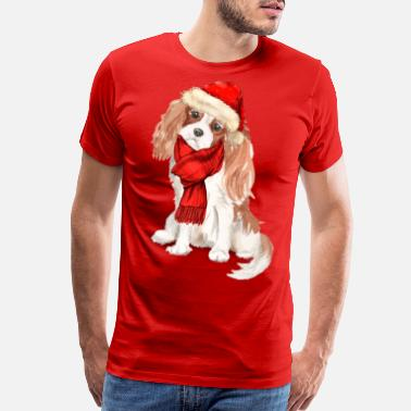 Charles Cavalier King Charles Spaniel Christmas Dog - Men's Premium T-Shirt