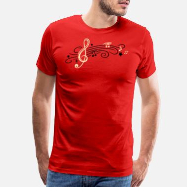 Music Star Music, clef with stars and music notes - Men's Premium T-Shirt