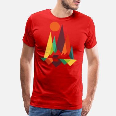 ee5ba9c5 Bear Print bear in whimsical wild prints - Men's Premium T-Shirt