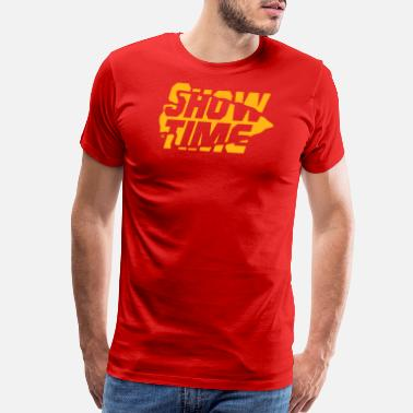 Kc FOOTBALL: Showtime in KC (Yellow) - Men's Premium T-Shirt
