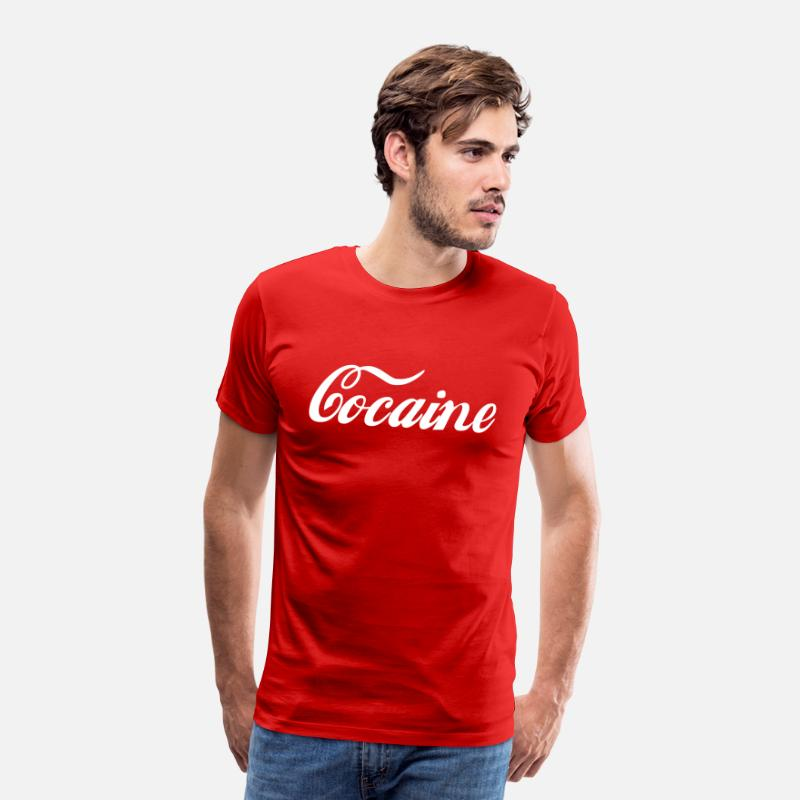 Cocaine T-Shirts - Cocaine - Men's Premium T-Shirt red