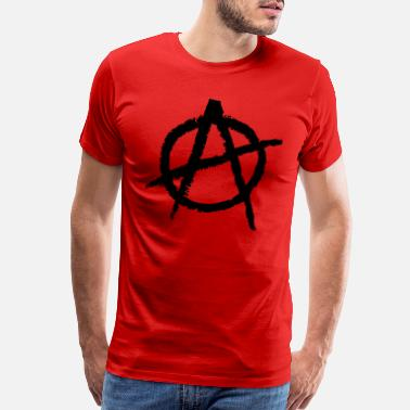 Anarchist Anarchy Symbol - Men's Premium T-Shirt